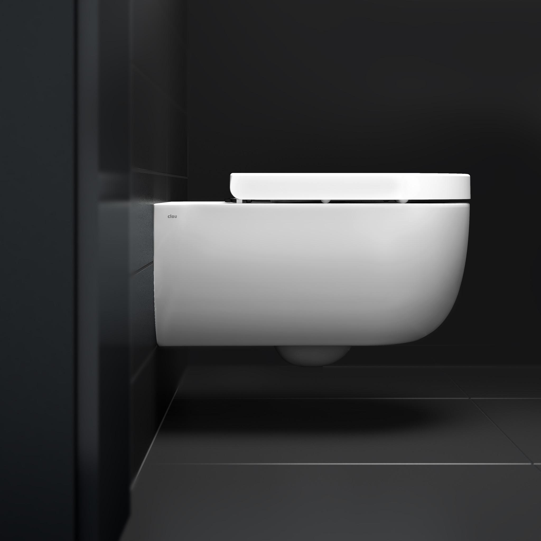 Hammock toilette 56cm sans bord, avec abattant