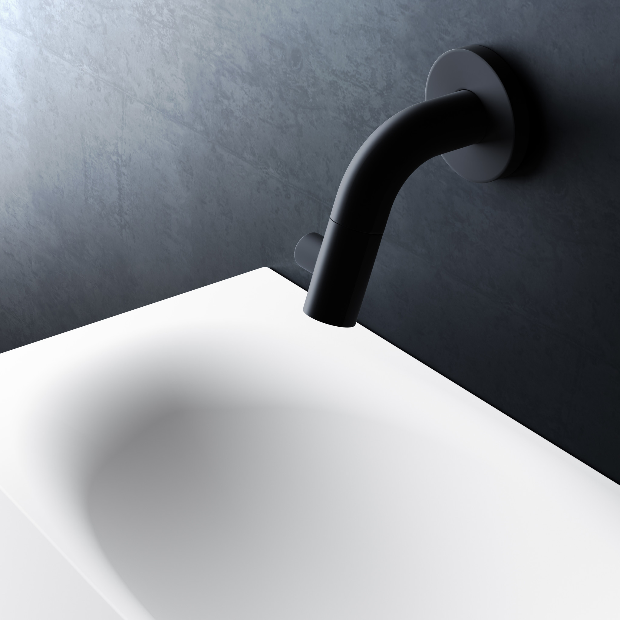 Kaldur cold water tap black