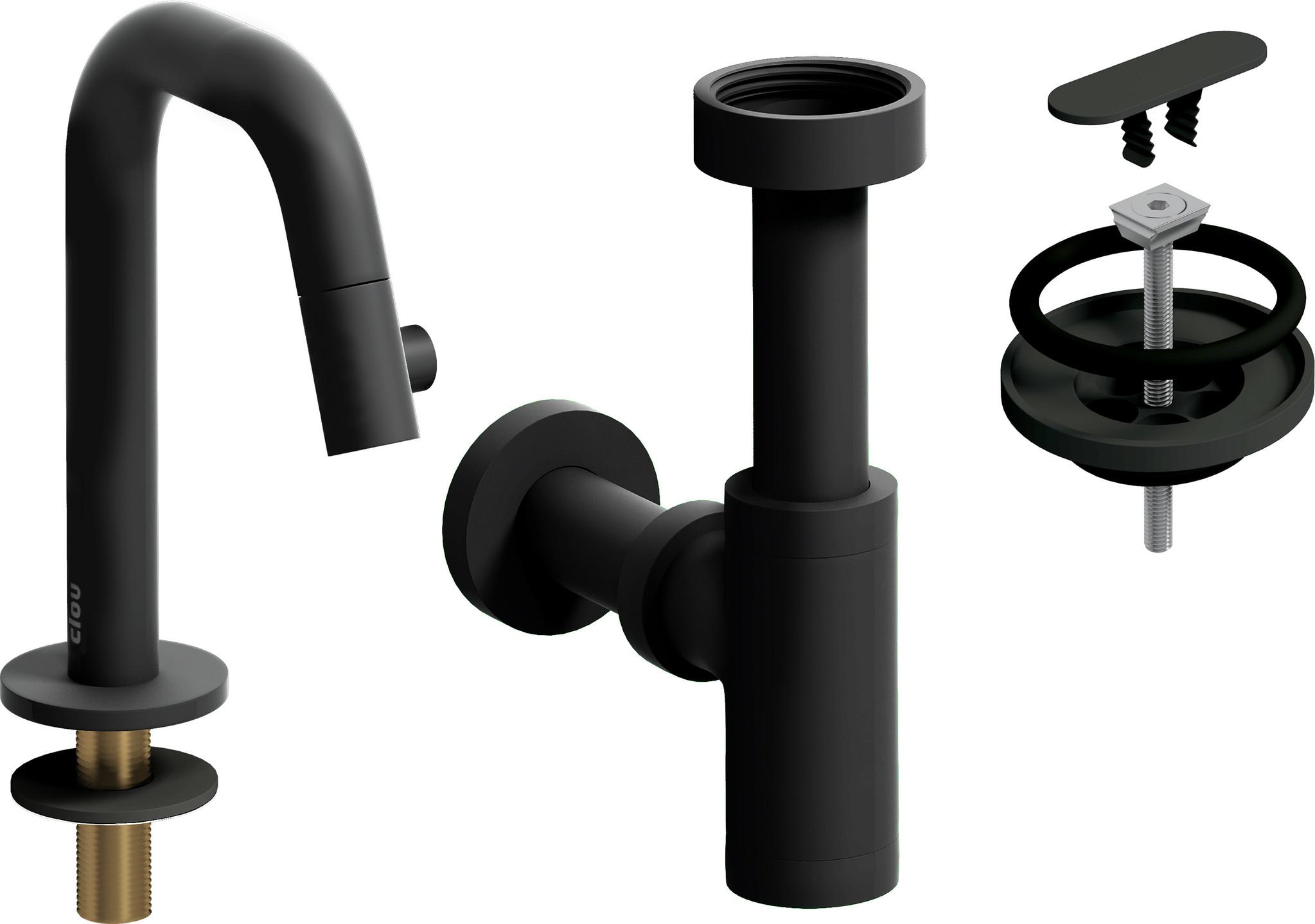 Kaldur Dark Mode Kaldur cold water tap and drain set