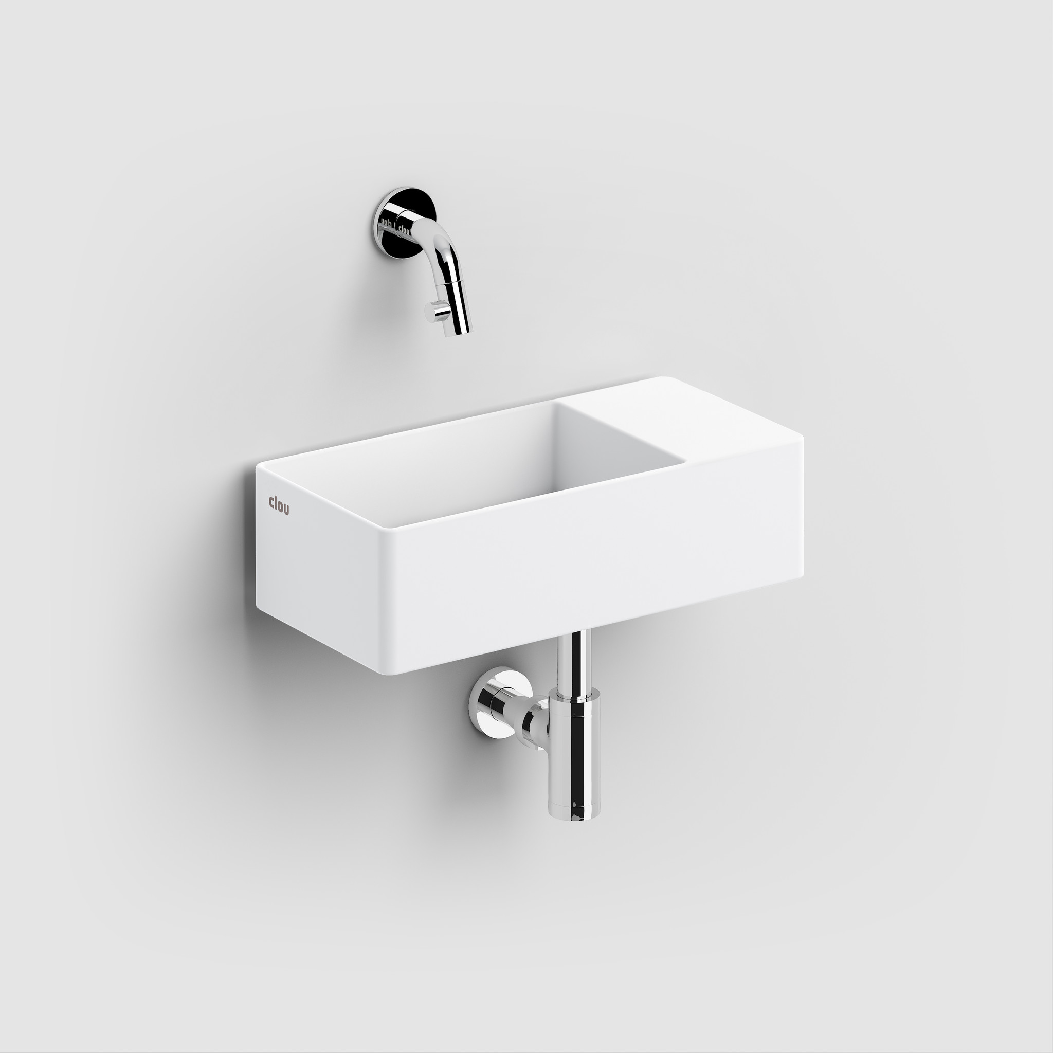 New Flush 3 hand basin with drain plate
