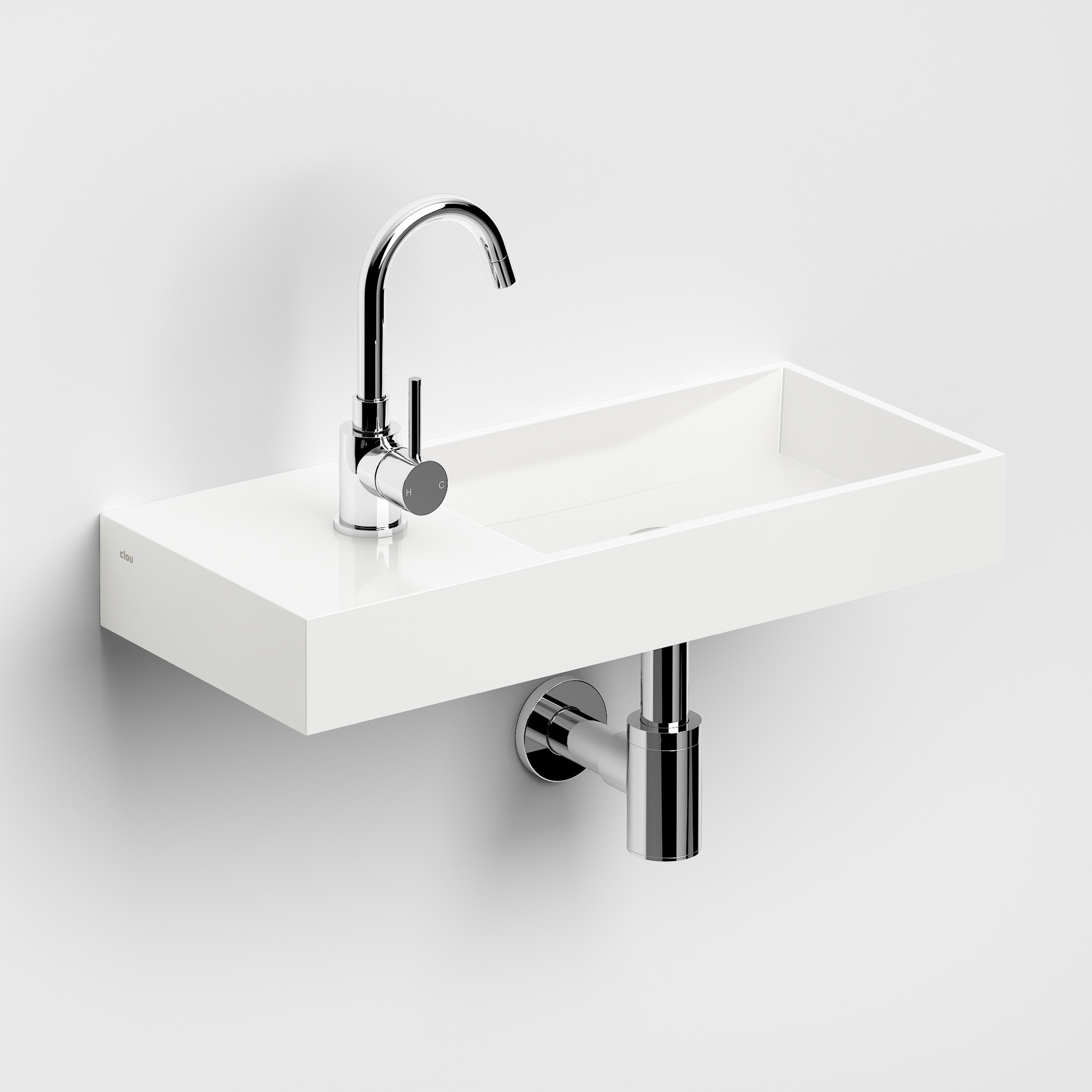 Mini Wash Me Plus hand basin 56 cm left
