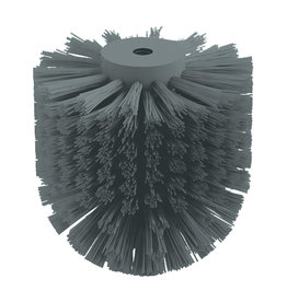 Slim brush head for toilet brush
