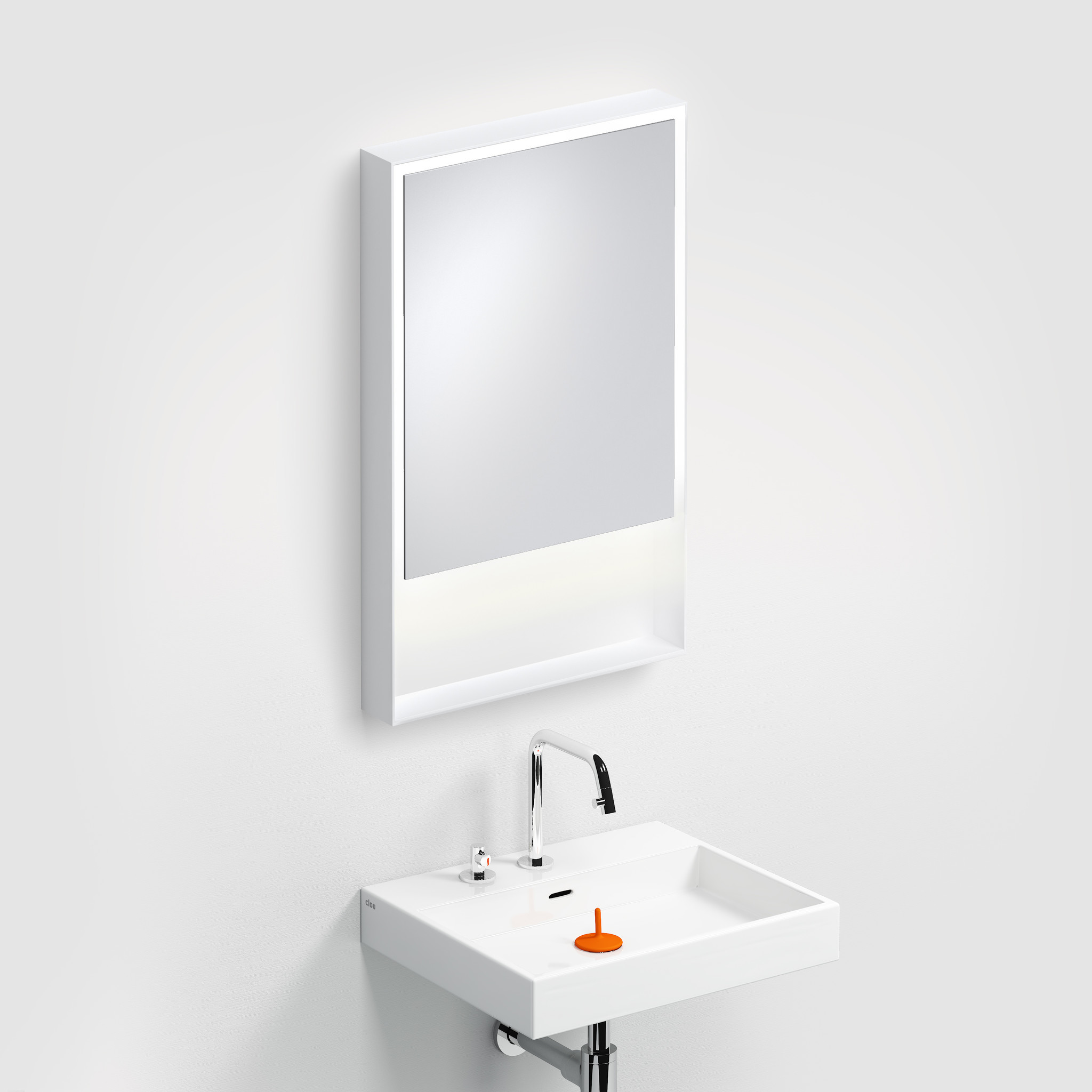 Look at Me Mirror 50 cm with frame and LED-lighting