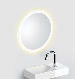 Look at Me Mirror 40 cm round with border with LED-lighting