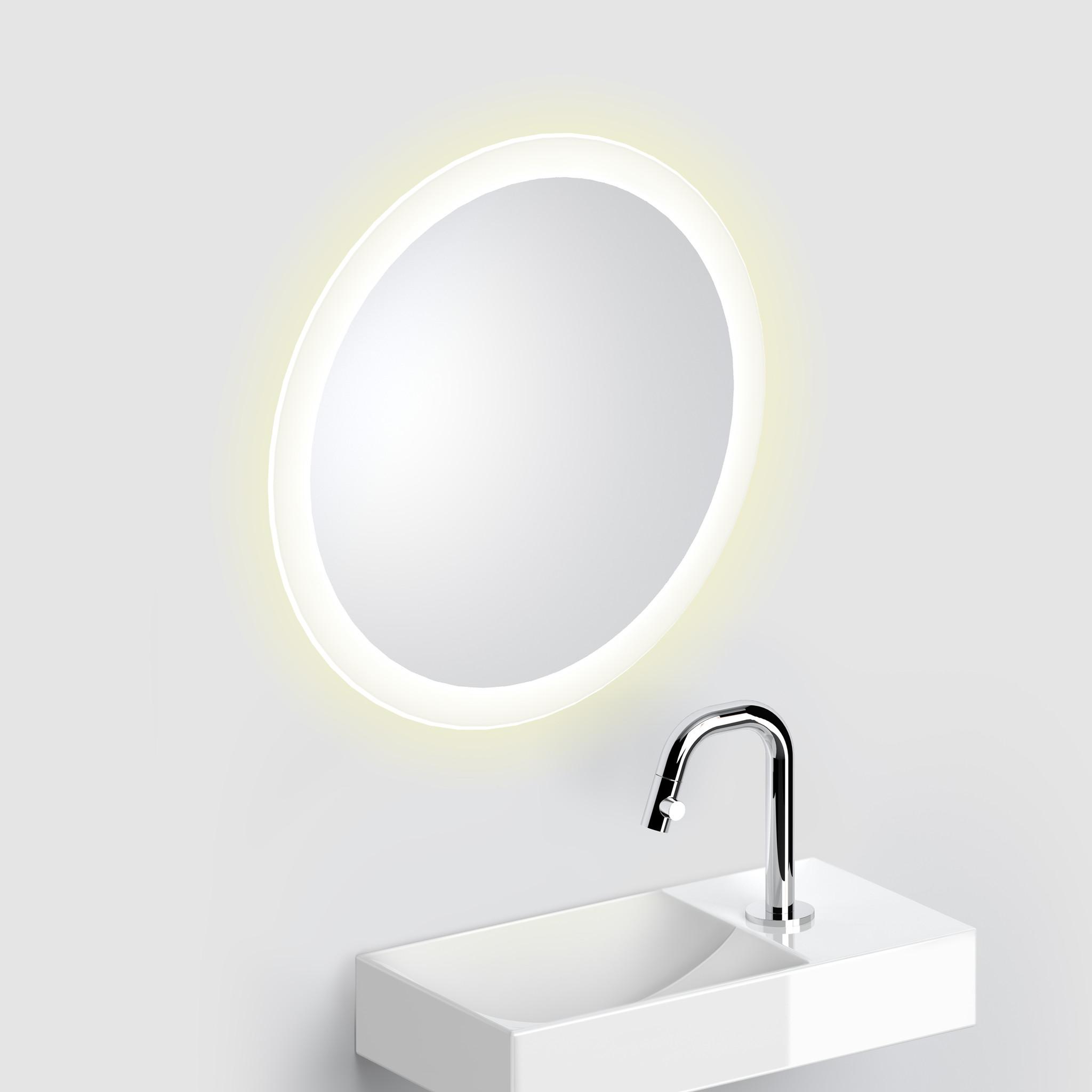Look at Me Spiegel 40 cm rond met rand met LED-verlichting