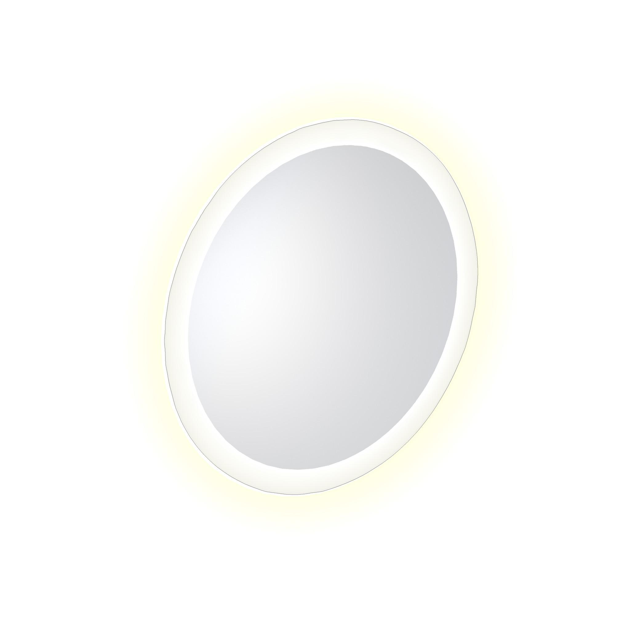 Look at Me Miroir 40 cm rond avec bord avec éclairage LED