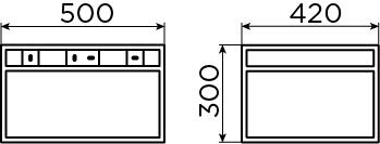 Frame armoire ouverte à armature 50 cm pour (New) Wash Me