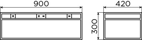 Frame kokerprofielkast 90 cm voor (New) Wash Me