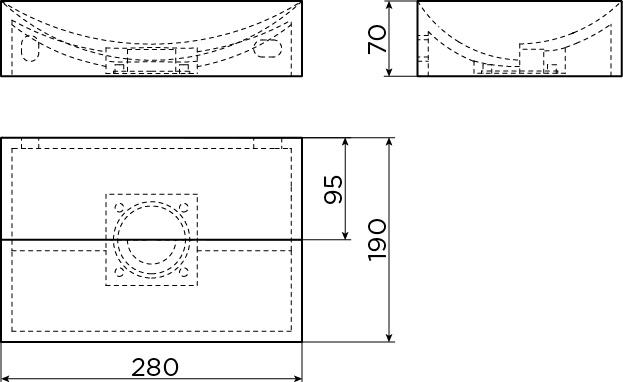 Vale fontein 28 cm