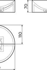 Vale fontein 22 cm rond