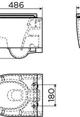 InBe toilet 48 cm, rimless