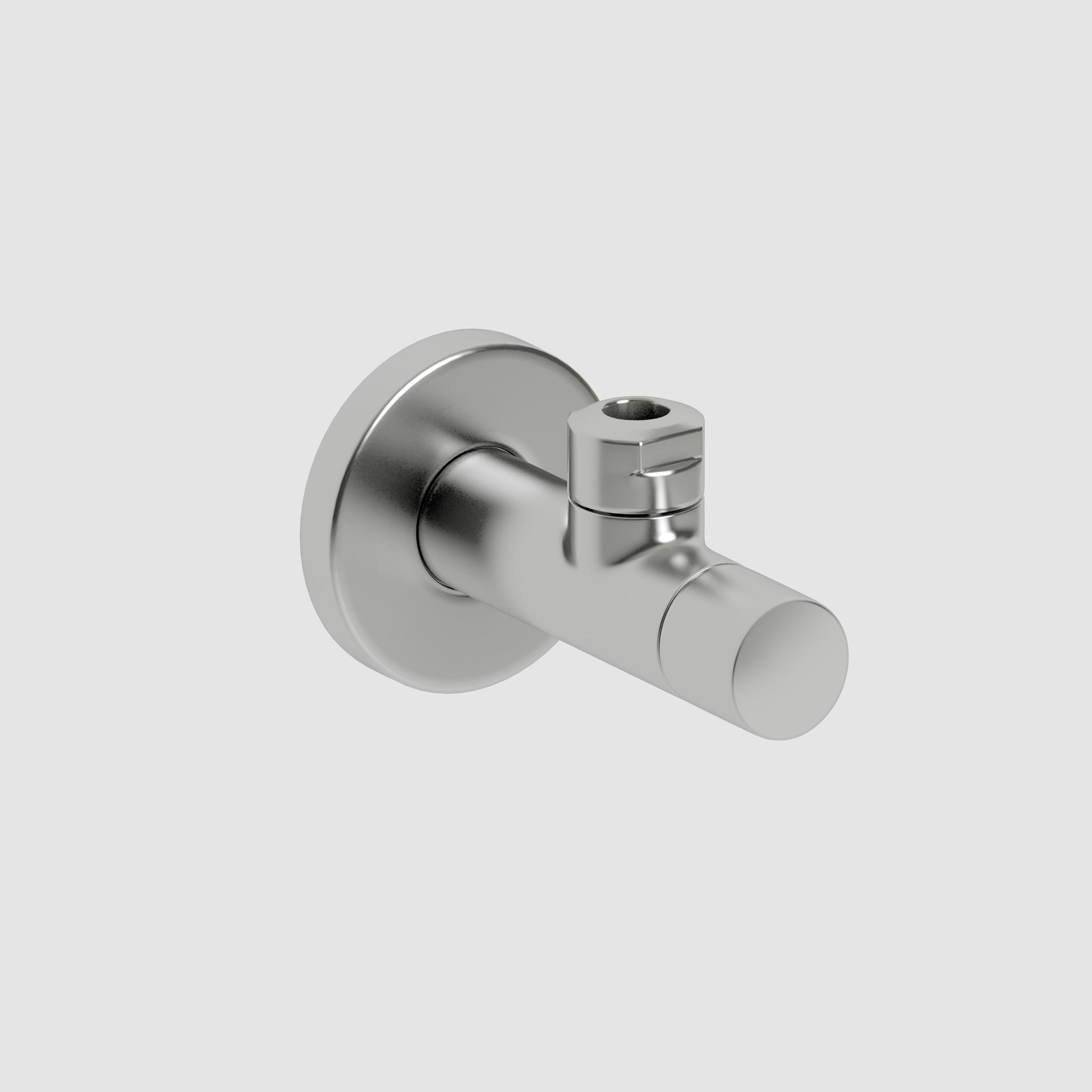 HighTech Marathon 2 design angle valve, brushed stainless steel