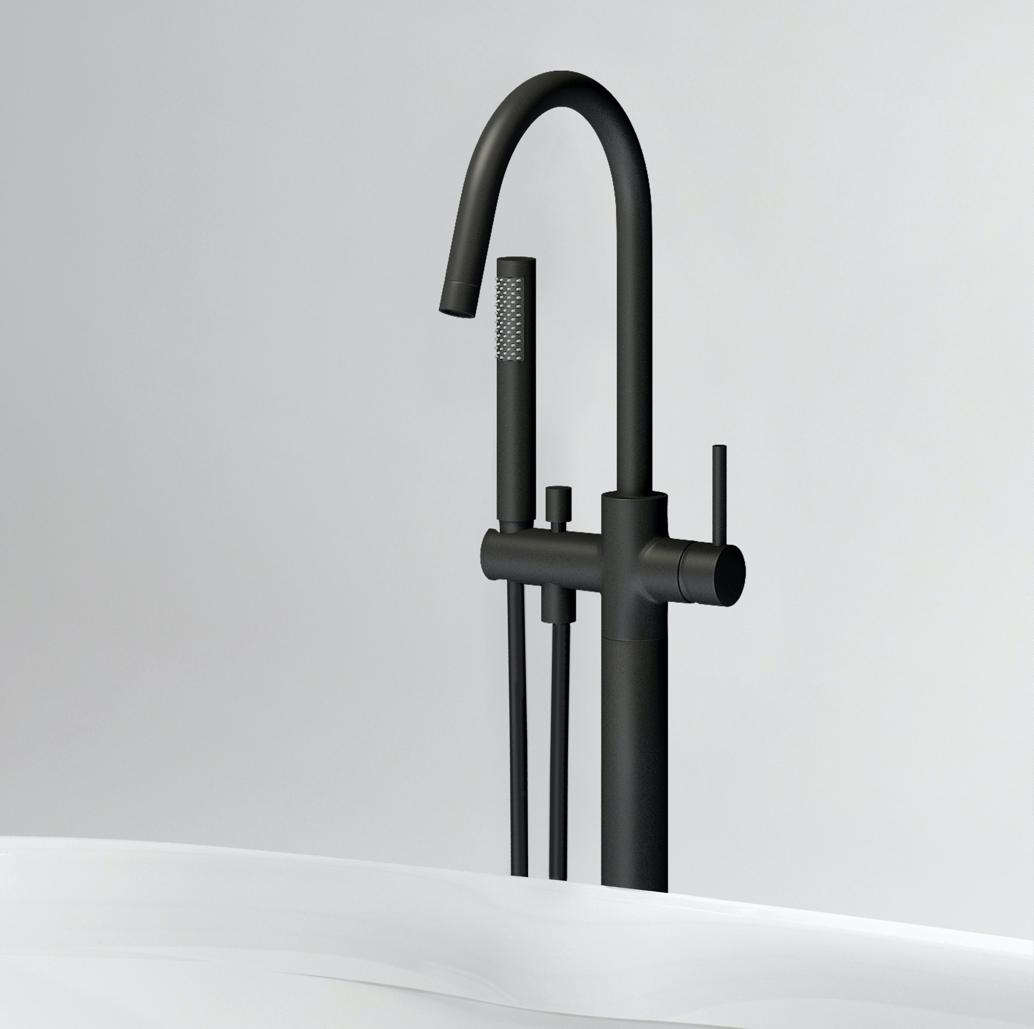 Xo mitigeur pour baignoire en îlot type 1 noir