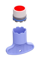 Kaldur Perlator t.b.v. Kaldur, InBe en Xo koudwater- en wastafelmengkranen, met sleuteltje