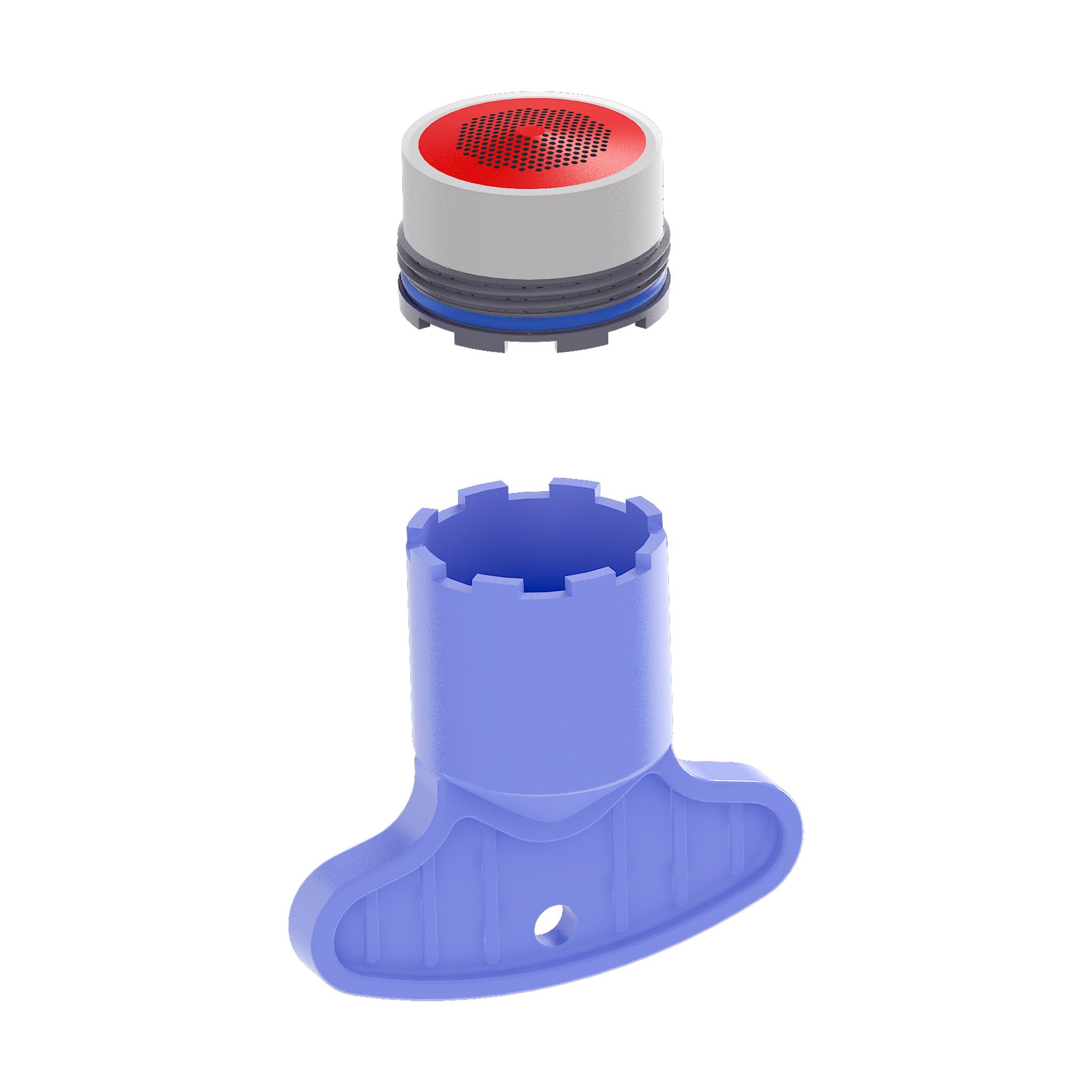 Kaldur Aérateur avec clé pour mitigeurs pour baignoires en îlot Kaldur et Xo CL/06.04012.29 et CL/06.04013.29