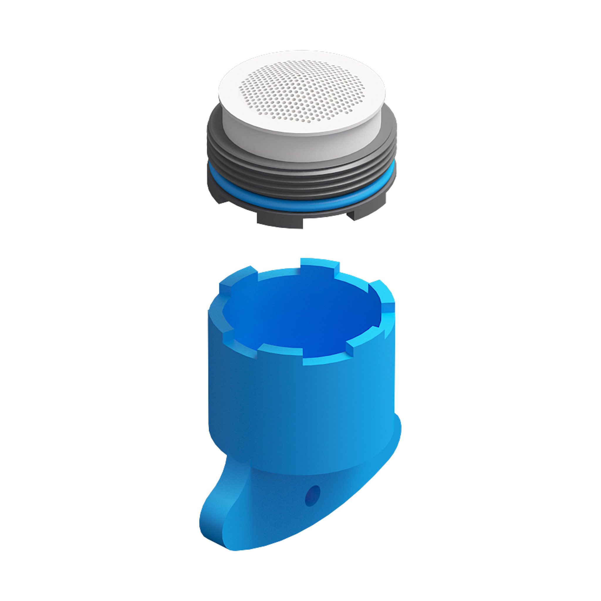 Xo Water breaker for Xo bathtub mixers type 7 & 8, with key