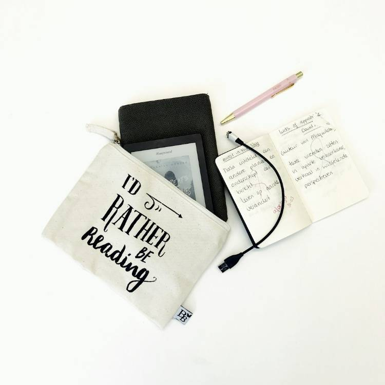 BB canvas case: I'd rather be reading