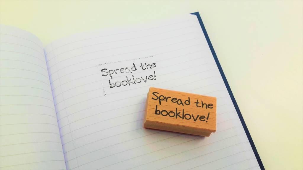 Rubber stamp: Spread the booklove!