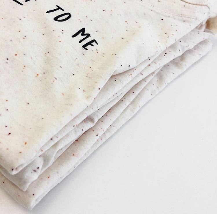 Organic t-shirt: Talk nerdy to me - Ecru Nappy Mandarine