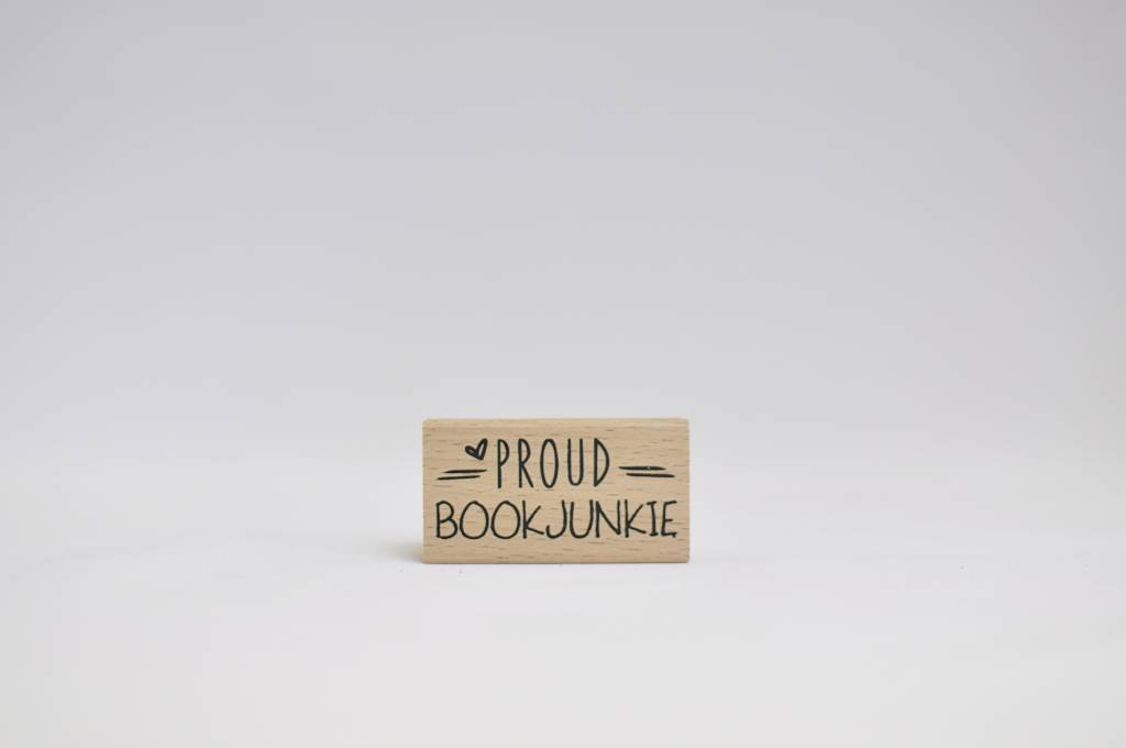 Rubber stamp: Proud bookjunkie