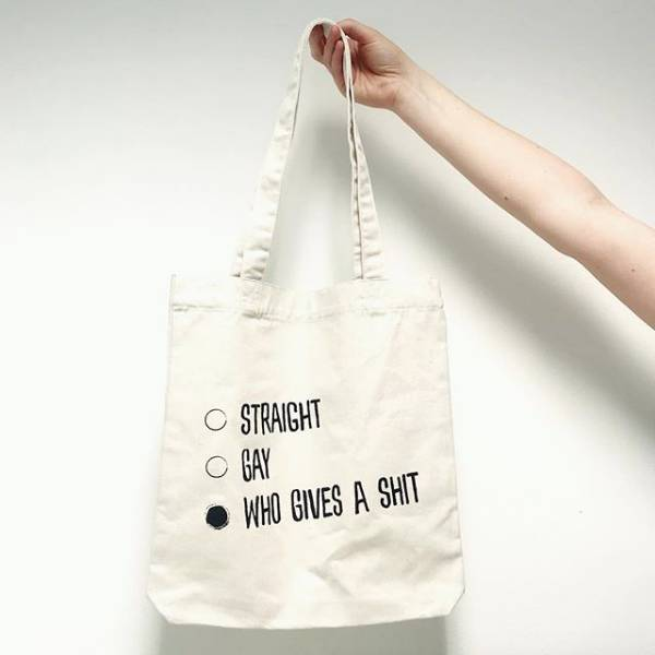 Luxe Blossom Bag: Straight, Gay, Who gives a shit