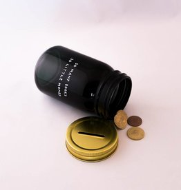 Book Jar: So many books (gold-coloured lid)