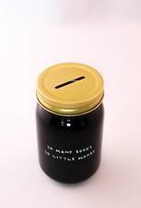 Book Jar:  So many books, so little money (zwart, goudkleurige deksel)