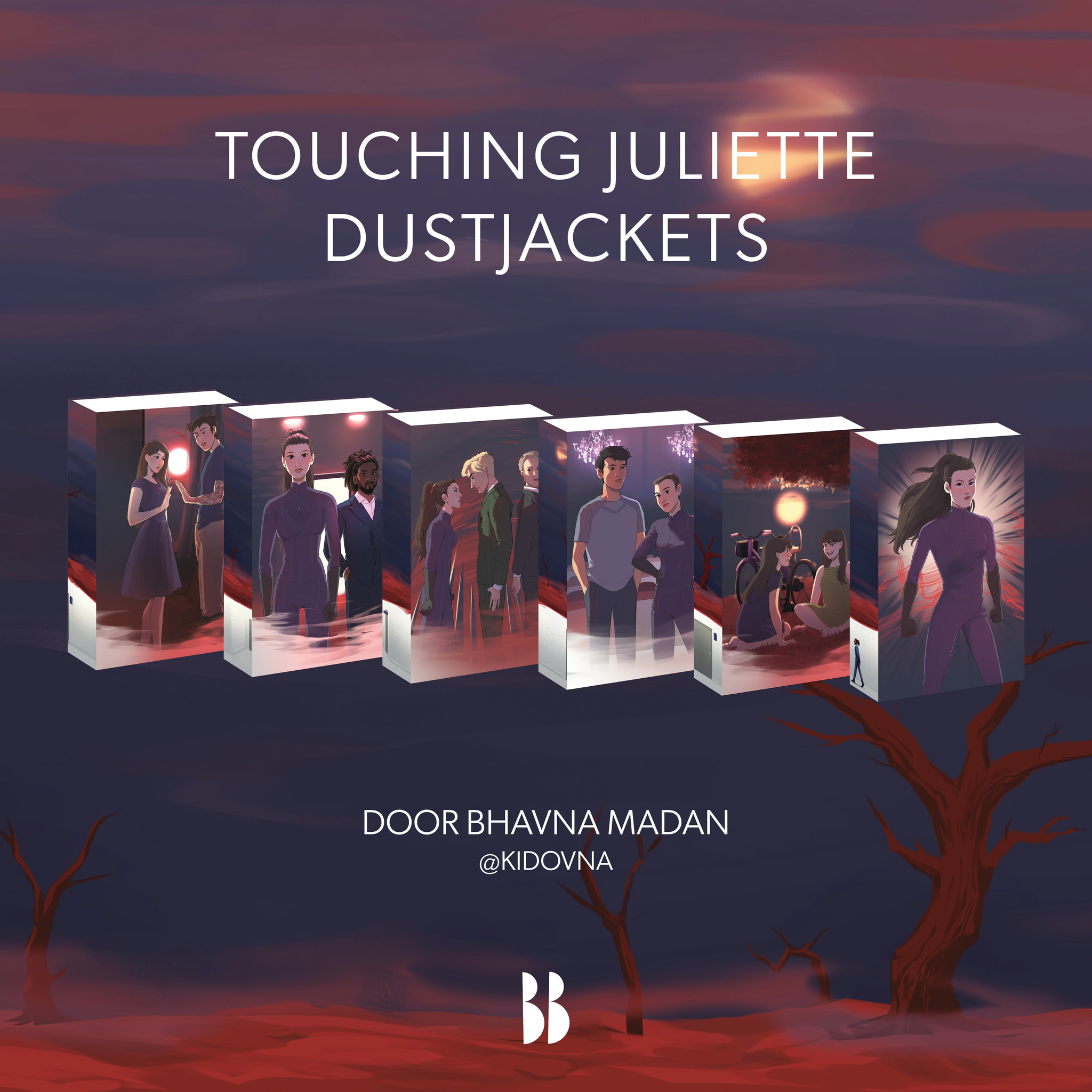 Limited Edition set dust jackets - Touching Juliette