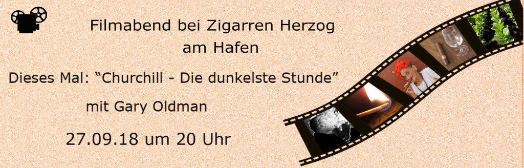 27.09.2018: Filmabend bei Zigarren Herzog am Hafen