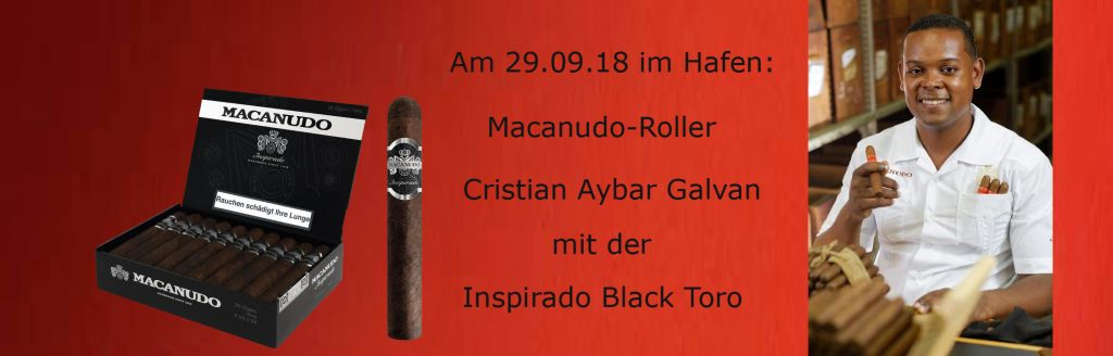 29.09.18: Macanudo-Meisterroller bei Zigarren Herzog am Hafen