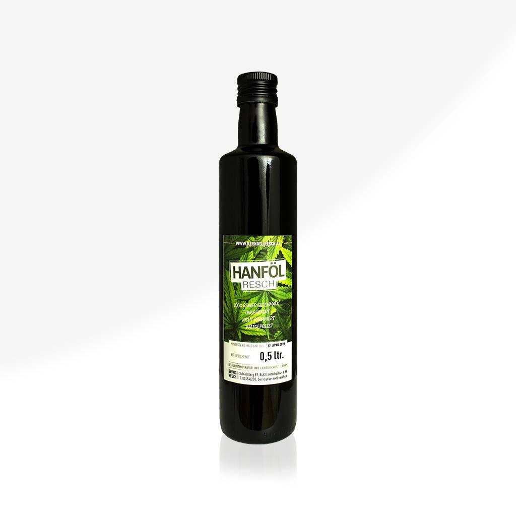 RESCH Hanföl 0,5 ltr. Glasflasche