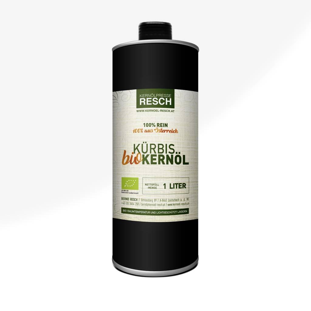 RESCH Bio-Kürbiskernöl 1 Liter Dose AT BIO 301
