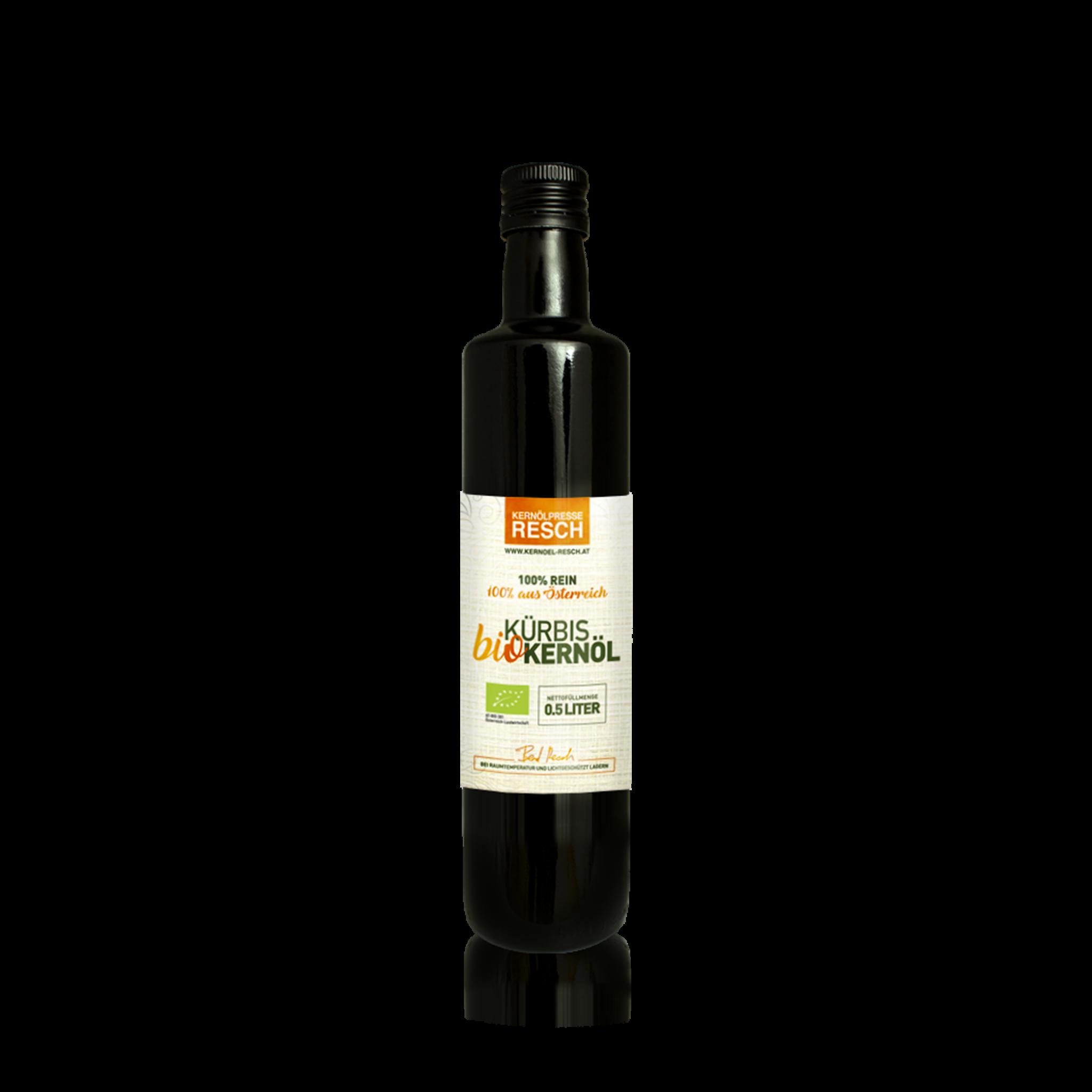 RESCH Bio-Kürbiskernöl 0,5ltr. Glasflasche AT BIO 301