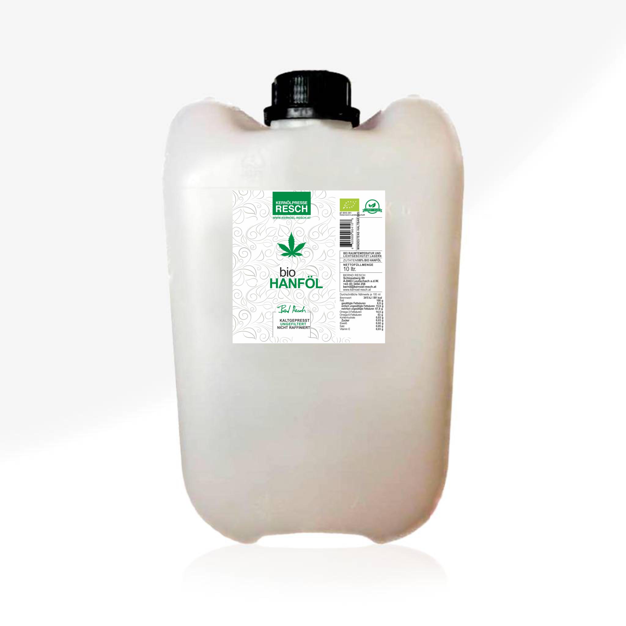 RESCH BIO Hanföl kaltgepresst AT BIO 301 - 10ltr. Kanister