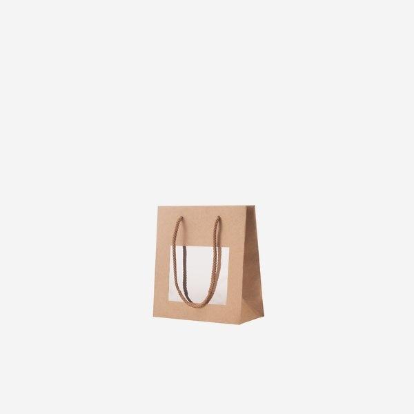 Geschenktragetasche braun