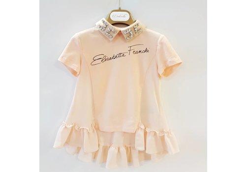 Elisabetta Franchi Elisabetta Franchi t-shirt + losse kraag