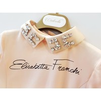 Elisabetta Franchi t-shirt + losse kraag