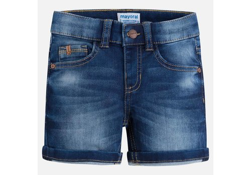 Mayoral Knit denim shorts