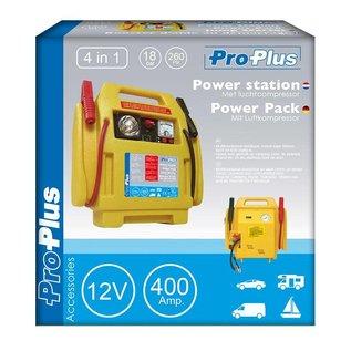 ProPlus Powerstation 12V PS400A met luchtcompressor