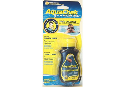 S.P.A.S. PRODUCTS AQUACHEK YELLOW 4-IN-1 Testsrips 50p.