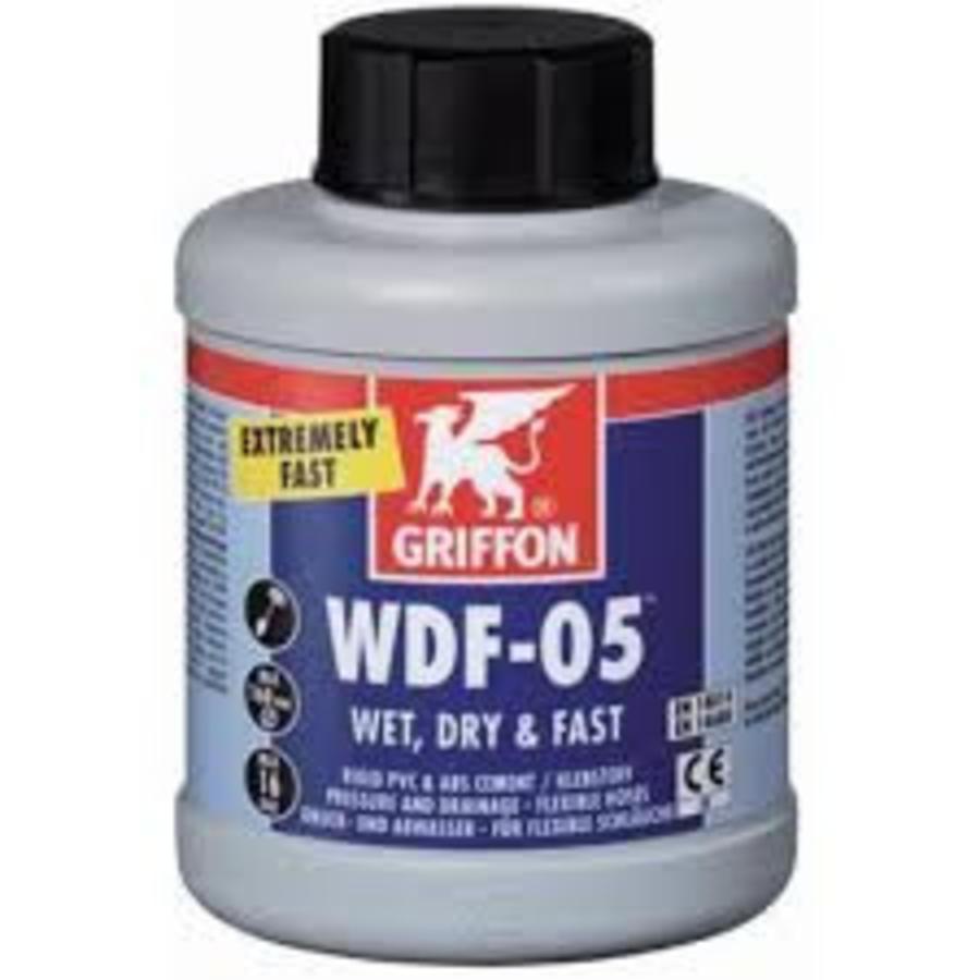 WDF-05 Zeer snelle, blauwe, tixotrope PVC-lijm 250ML