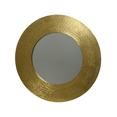 Mirror with embossed edge