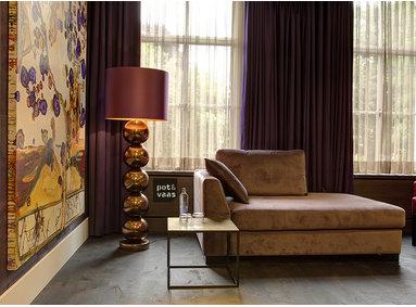 Hotel de Leijhof Oisterwijk - kamer in paars en goud