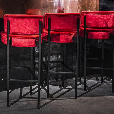 Bar stool fabric iron base