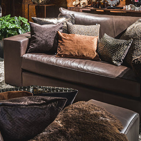 Sofa leather extra deep seat