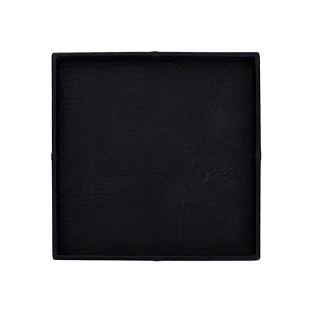 Exclusive leather tray croco print