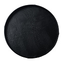 Exclusive round leather tray croco print