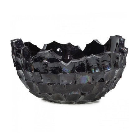 Bowl Mother of Pearl D70 H36cm Black Shell