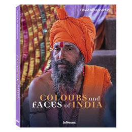 Boek Colours and Faces of India, David Krasnostein L31.4 B24