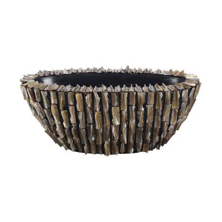 Jar Rough Shell Oval